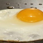 Fresh Eggs cooked right on the griddle